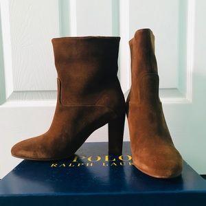 Ralph Lauren, suede boot, size 10